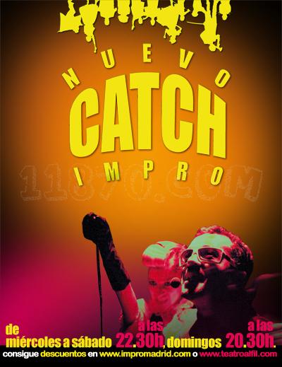 Impromadrid Teatro: Nueva temporada de NUEVO CATCH DE IMPRO en Teatro Alfil. A partir del 28 de Octubre