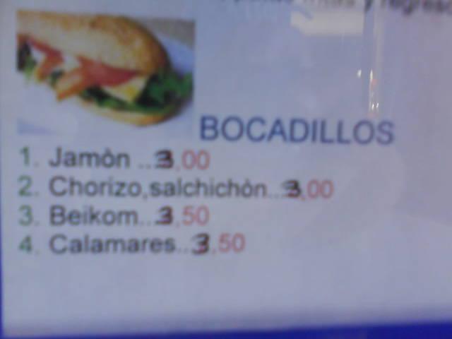 Bocadillo bacon-beikom (Irene Patiño)