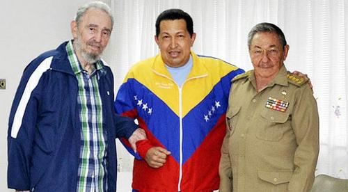 Chávez y hermanos castro