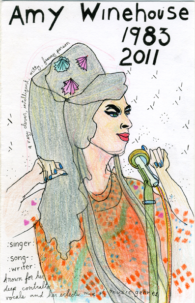 Amy Winehouse [Dibujo: Verónica de Jesús]