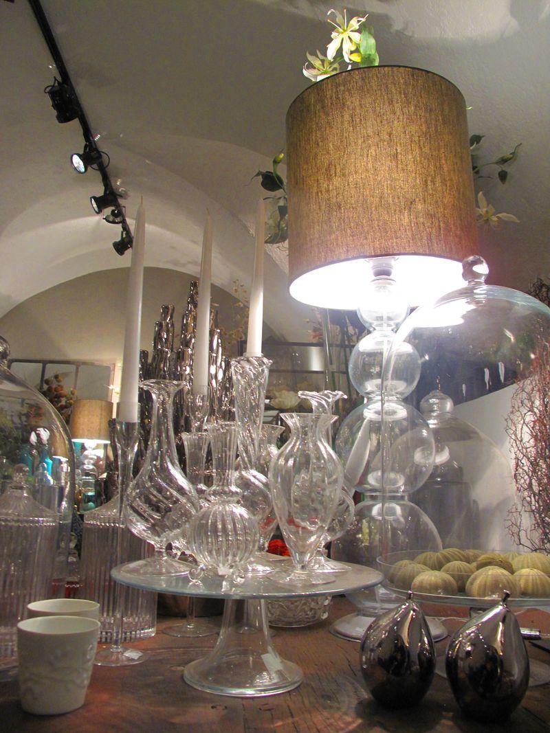 Cristal y lampara de Fransen et Lafite