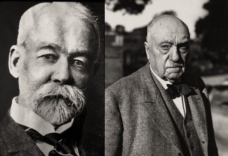 Izquierda: William Hammond Hall. Derecha: John McLaren