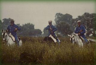 Guardas antiguos (de derecha a izquierda son Antonio Otero Robles, Jaime Robles Rodrigues y Jose Boixo)