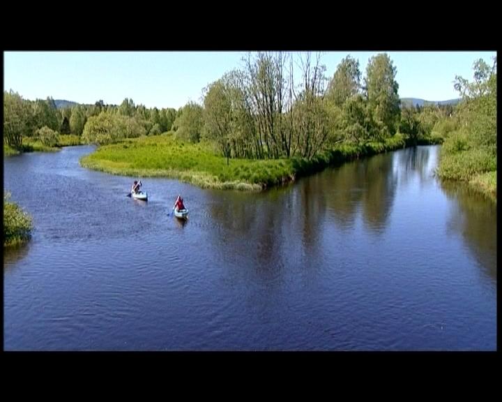 El río Vlatva serpentea por la zona salvaje de Sumava, en la Rep. Checa