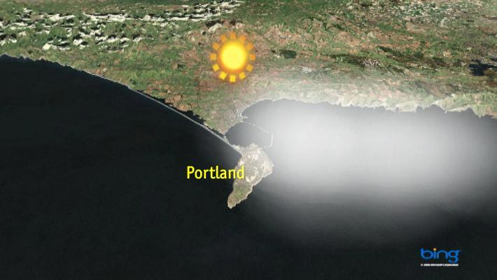 Portland niebla para el viernes 10