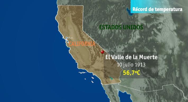 Valle de la Muerte, 10/07/1913, 56,7ºC