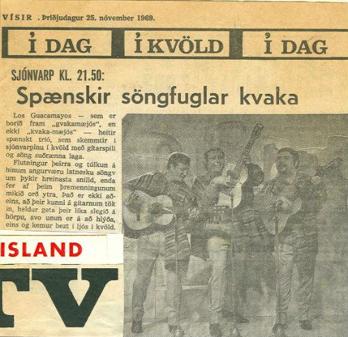 1969 Los Guacamayos a la TV d'Islàndia BLOG