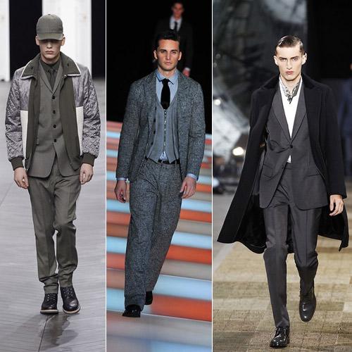Trajes-grises-de-Dior,-Armani-y-Louis-Vuitton