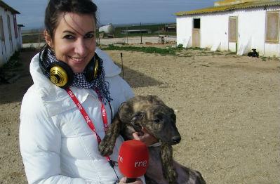 Sara y su perro