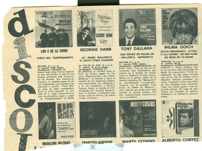 1966 Los 4 de la Torre a Fans Crítica disc BLOG
