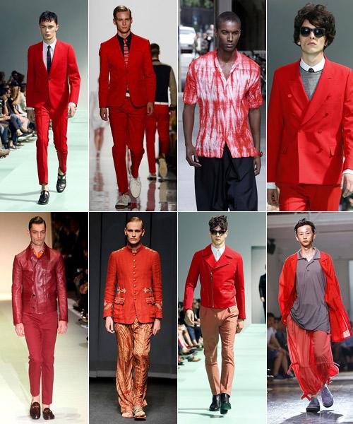 Rojos-en-Paul-Smith,-Michael-Kors,-Miyake,-Paul-Smith,-Yamamoto,-Paul-Smith,-Etro-y-Gucci.