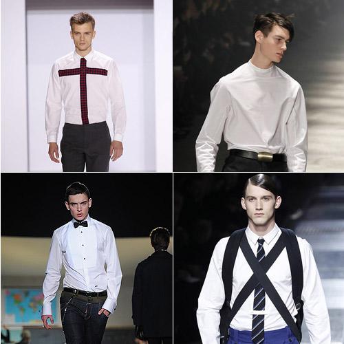 Camisa-Blanca-de-Lacroix,-Lanvin,-Kriss-Van-Asche-y-Dsquared