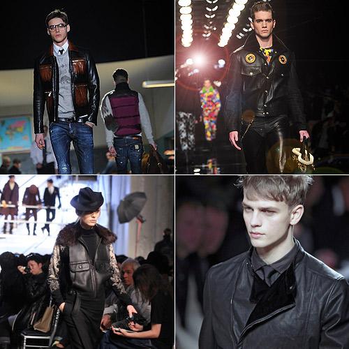 Cazadoras-de-cuero-de-Dsquared,-Versace,-Bottega-Veneta-y-Gaultier