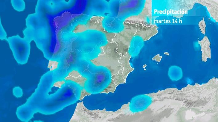 Modelo precipitación martes 20h