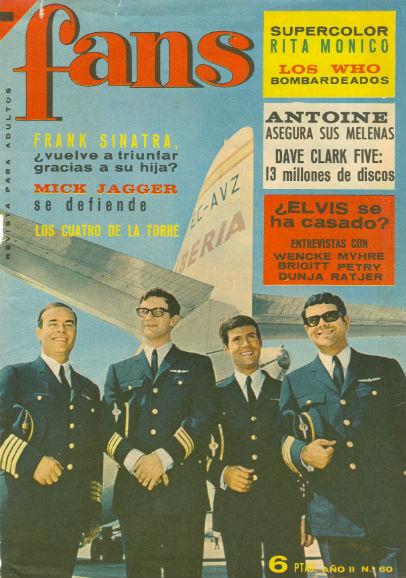 1966 Los 4 de la Torre portada de Fans BLOG