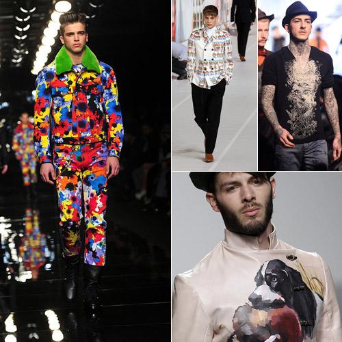 Arty-Print-en-Versace,-Dries-Van-Noten,-Gaultier-y-Ixone-Elzo