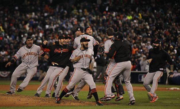 Los Giants celebran la victoria final [Foto: Photo: Lance Iversen, The Chronicle]