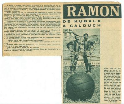 Ramon Calduch i Kubala Futbol  i música principi anys 60 a Fotogramas 1BLOG