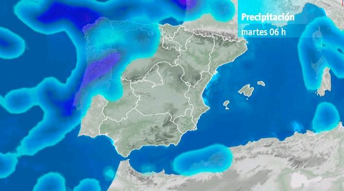 Modelo precipitación martes 06h