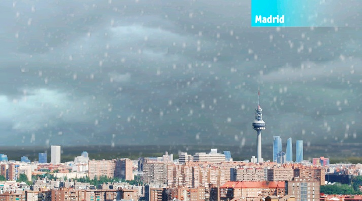 Madrid nevando