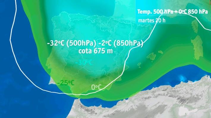 Fórmula cálculo cota de nieve