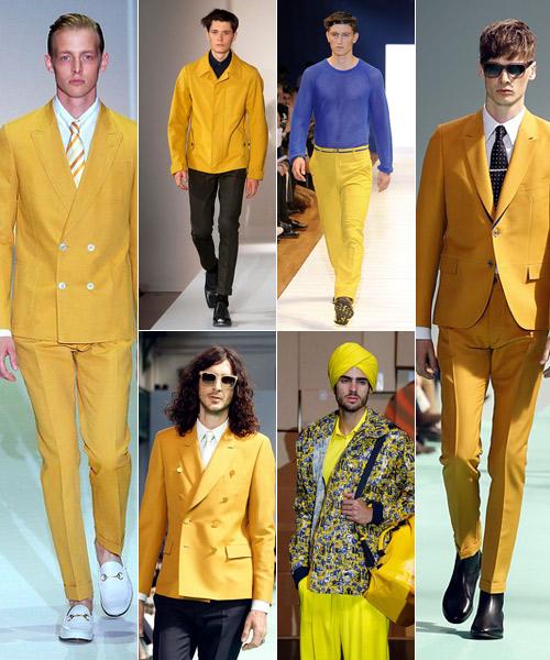 Amarillos de Gucci, Jil Sander, Lacroix,-Paul-Smith,-Jean-Paul-Gaultier,-Paul Smith.