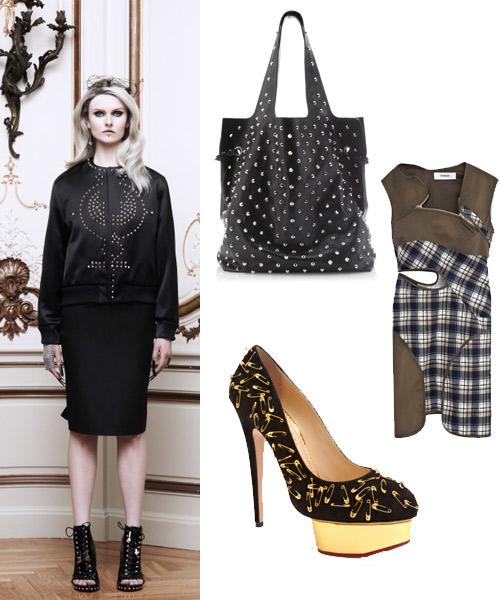 Look-de-Givenchy,-bolso-de-,-vestido-de-Hussein-Chalayan-y-zapatos-de-Charlotte-Olimpia