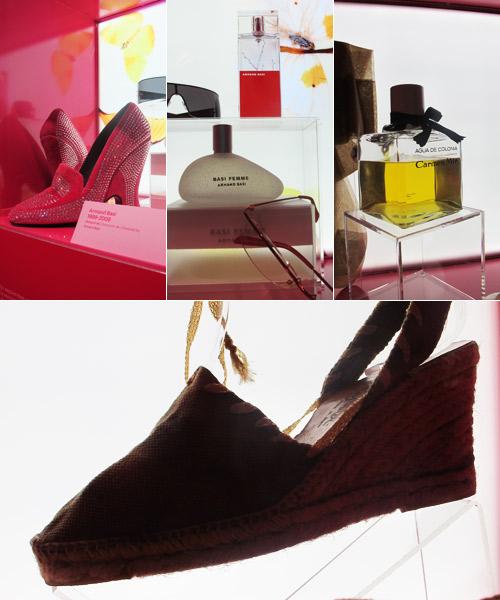 Vitrinas-con-zapatos,-perfumes-y-gafas