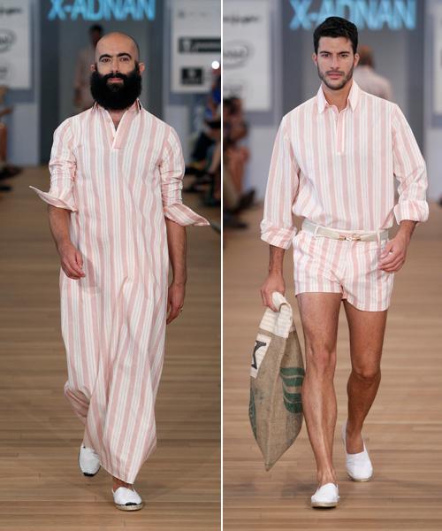 Rayas-en-chilaba-y-en-total-look-de-bermudas-y-camisa.-X-Adnan