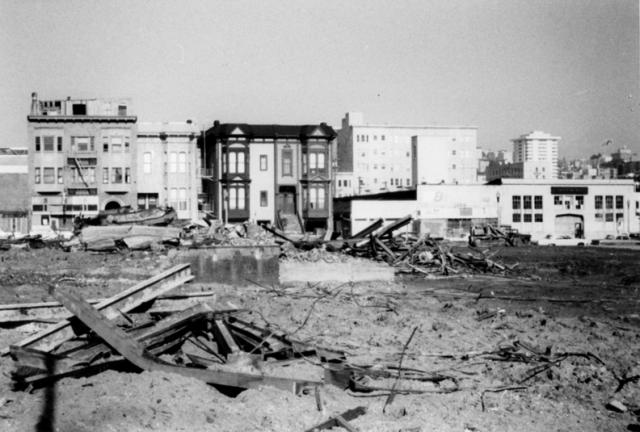[Fillmore, tras los derribos. Courtesy of the San Francisco Redevelopment Agency]