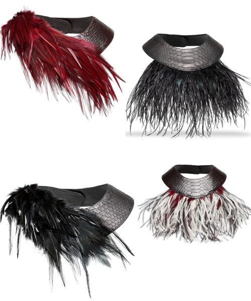 Gargantillas-com-plumas-de-David-Havillio,-La-Vida-al-Bies