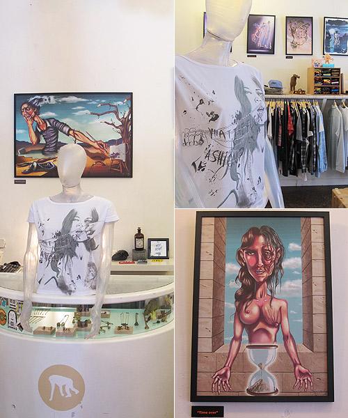 La-obra-y-las-camisetas-de-Sete-González-en-Monkey-Garden