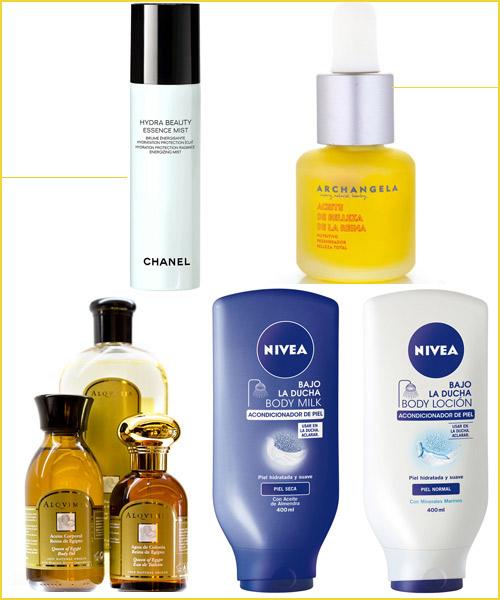 Productos-de-Chanel,-Archangela,-Nivea-y-Alqvimia