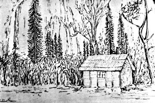 [Cabaña de Muir en Yosemite - ILustración: Sierra Club]