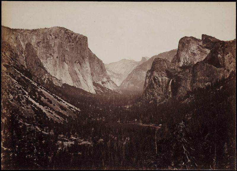 [Valle de Yosemite en torno a 1878- Foto: Carleton Watkins - Wikimedia Commons]