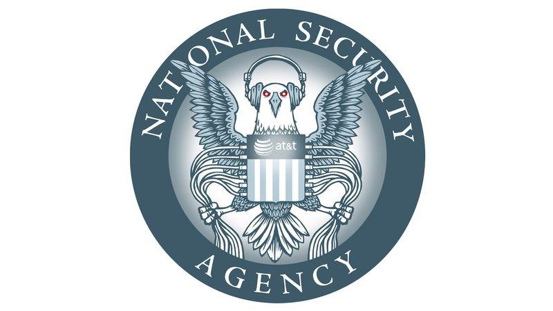 [Logotipo de la NSA reformado por la EFF]