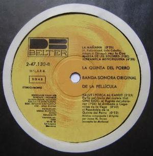 La Quinta del Porro BSO label BLOG
