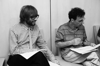02 Òscar Dalmau i Jordi Roura preparant el guió f juan miguel morales (2)