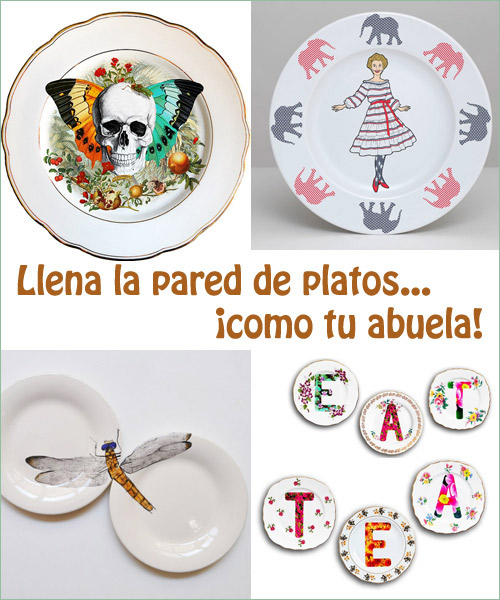 Imita a tu abuela lleg la moda de los platos - Platos decorativos pared ...