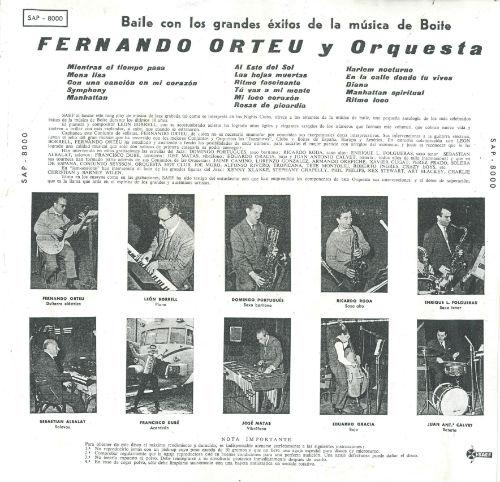 1960 Fernando Orteu y su orquesta R BLOG