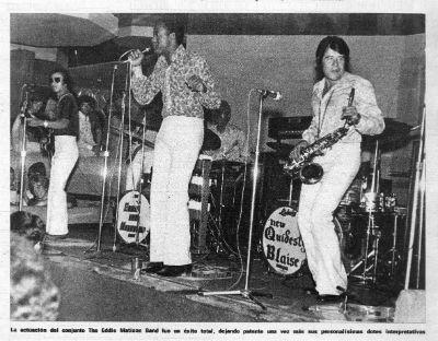 1970's Juan Mena amb The Eddie Lee Matison Band BLOG