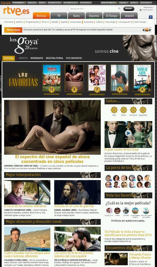 RTVE.es Goya 140202