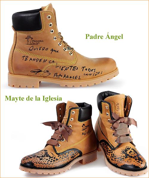 Botas-customizadas-por-el-Padre-Ángel-y-Mayte-de-la-Iglesia