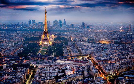 La Torre Eiffel desde la Tour Montparnasse