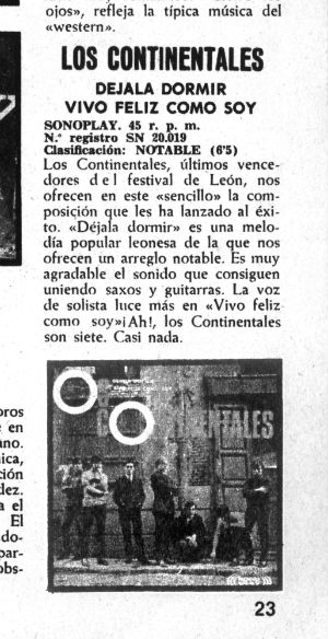 1967 Los Continentales Premsa crítica single BLOG