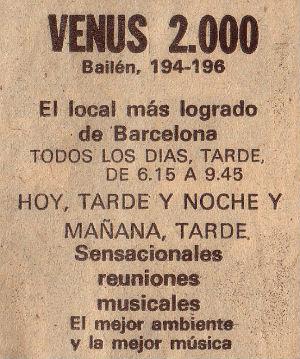 VENUS 2000 BLOG