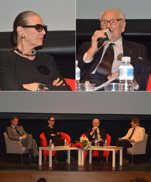 Varios-momentos-de-la-conferencia-de-Pierre-Cardin-en-Madrid