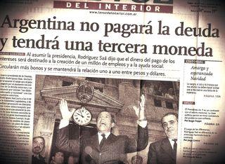Argentina 19 dic 2001, indignados 17, default 24 dic 2001