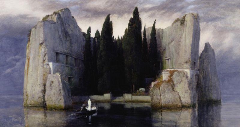 Arnold-bc3b6cklin-1827-1901-die-toteninsel-gemc3a4lde-c3b6l-auf-holz-1883-80-x-150-cm-c2a9-staatliche-museen-zu-berlin-nationalgalerie-foto-andres-kilger