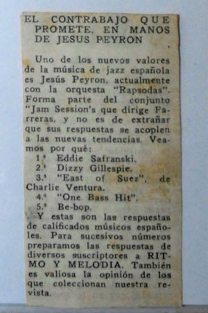 Jesús Peyrón a Ritmo y Melodía blog